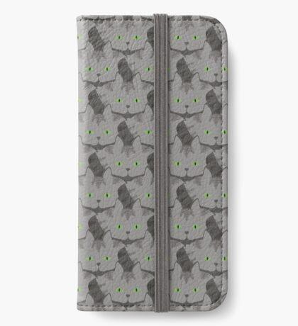 Grey #02  Tabby Cat Cattern [Cat Pattern] iPhone Wallet