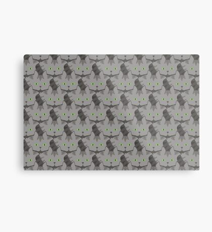 Grey #02  Tabby Cat Cattern [Cat Pattern] Metal Print
