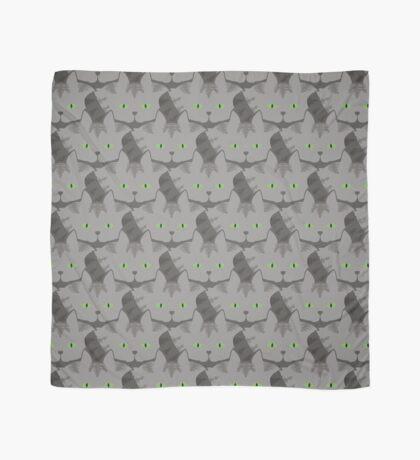 Grey #02  Tabby Cat Cattern [Cat Pattern] Scarf