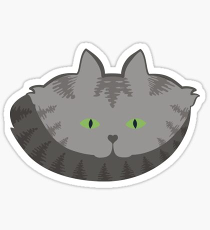 Grey #02  Tabby Cat Cattern [Cat Pattern] Sticker