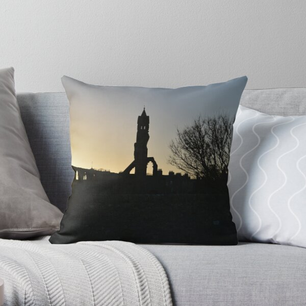 Autumn Sunset over St Andrews Cathedral Throw Pillow