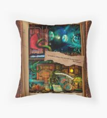 The Curious Library Calendar - July Throw Pillow