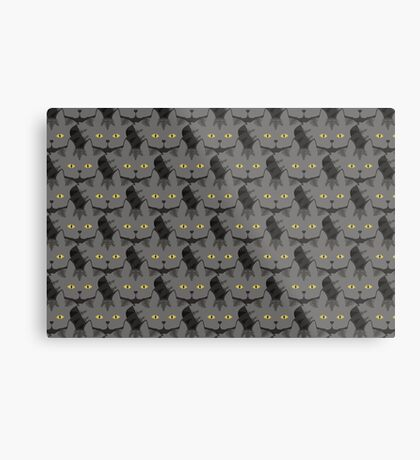 Grey #03  Tabby Cat Cattern [Cat Pattern] Metal Print