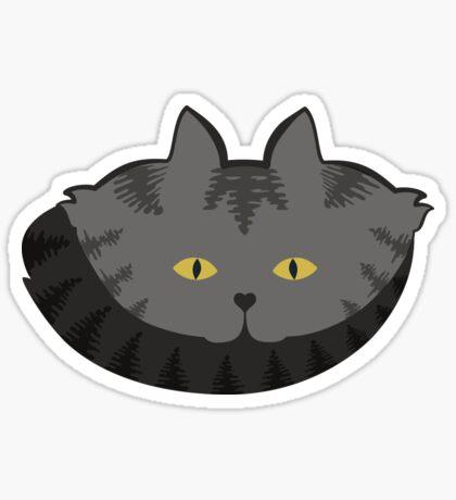 Grey #03  Tabby Cat Cattern [Cat Pattern] Sticker