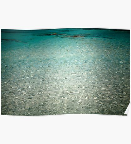 Into the Blue - beautiful Greek sea. Poster