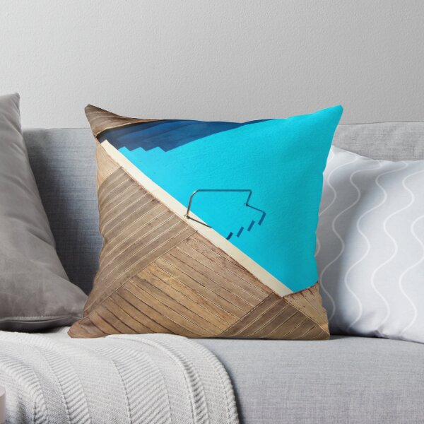 Pool Abstract Throw Pillow