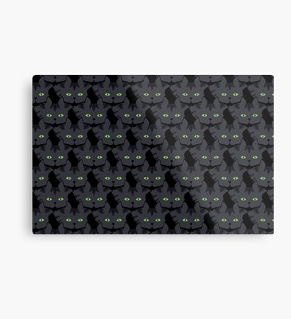 Grey #05  Tabby Cat Cattern [Cat Pattern] Metal Print