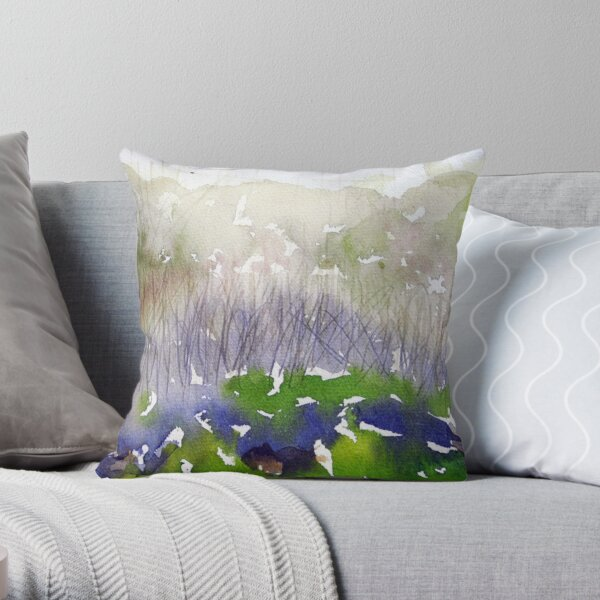 Mont Royal, Montreal, June, watercolour Throw Pillow