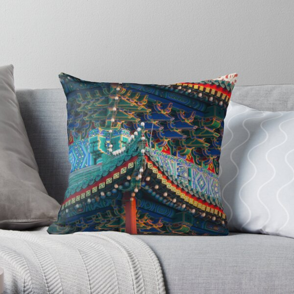 Beijing Temple Throw Pillow