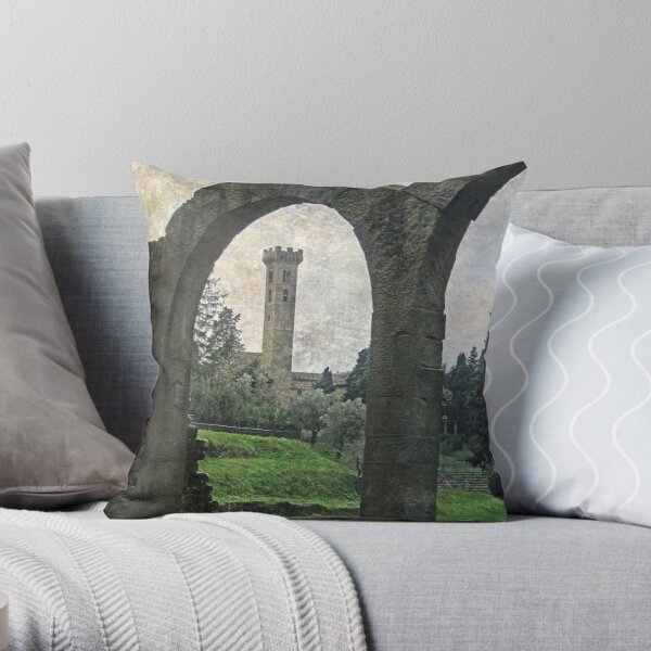 An archway through time Throw Pillow