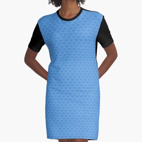 Paragliding - Light Blue Graphic T-Shirt Dress