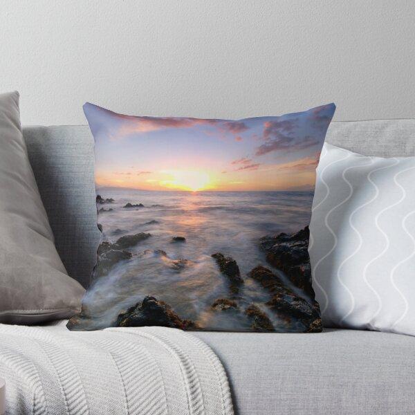 Evening Glow, Maui Throw Pillow