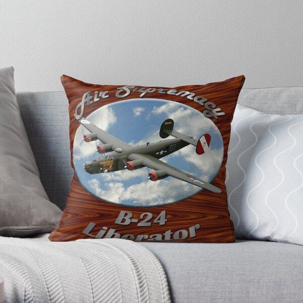 B-24 Liberator Air Supremacy Throw Pillow