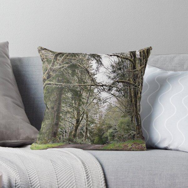 Back Roads of Siletz, Oregon Throw Pillow