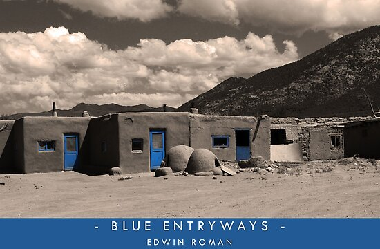 Blue Entryways by Edwin Roman