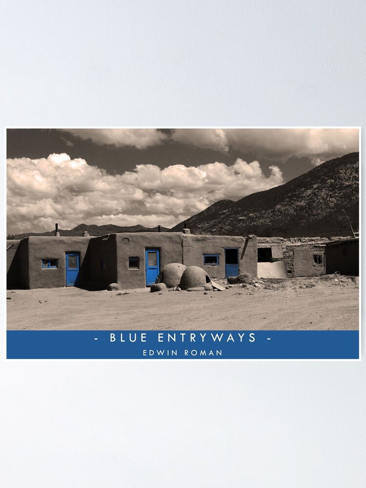Alternate view of Blue Entryways Poster