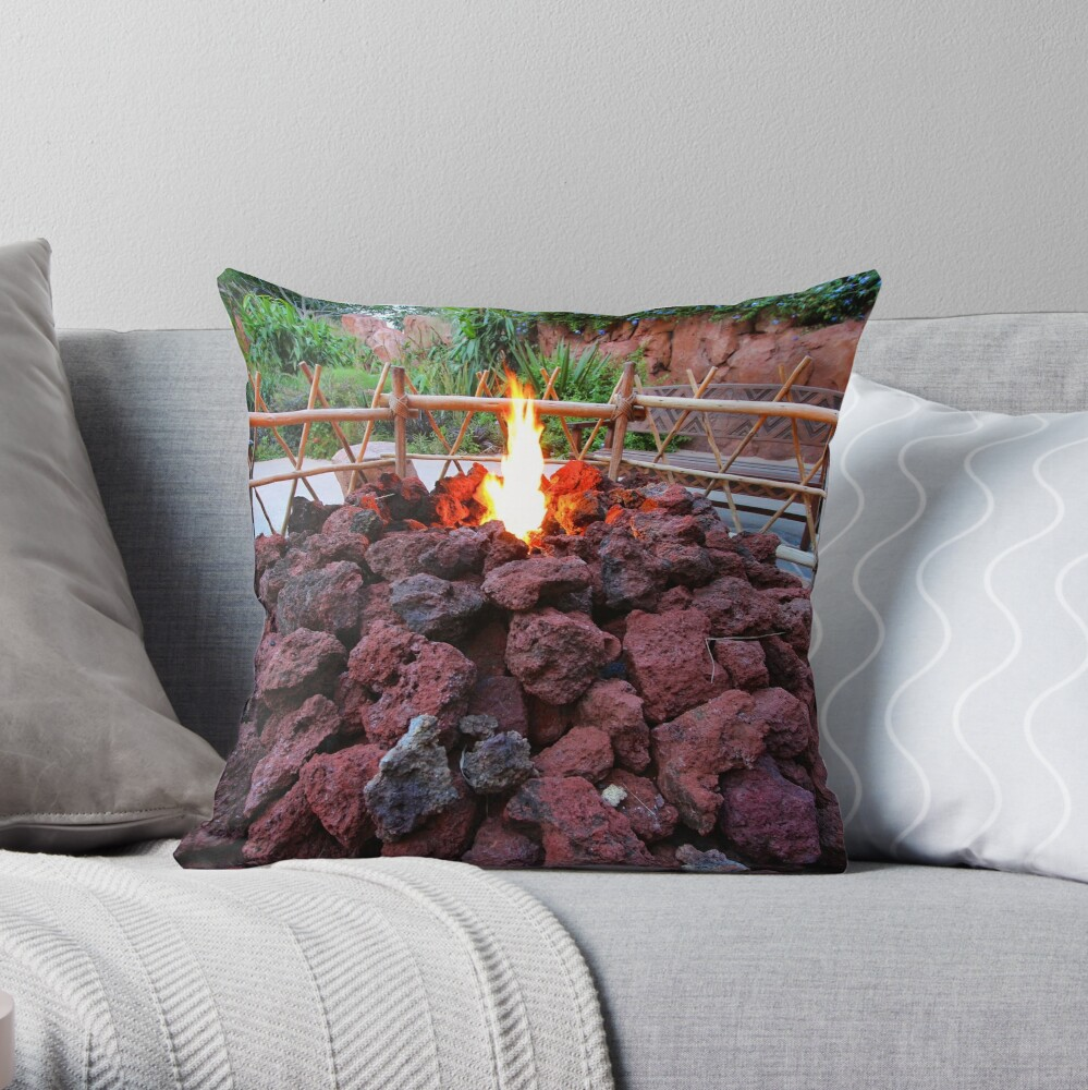 Gather by the Fire Throw Pillow