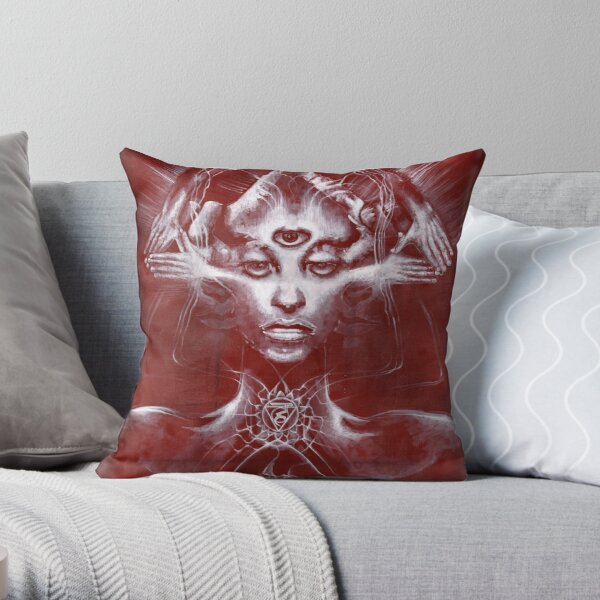 Sophia (underpainting) Throw Pillow