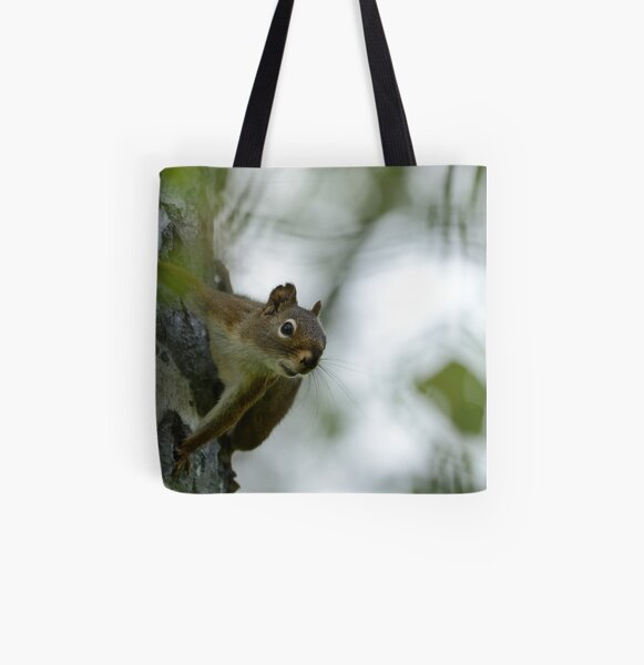 Spider Squirrel All Over Print Tote Bag