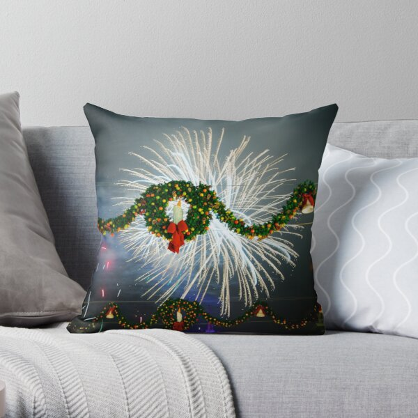 Boom Goes Christmas Throw Pillow