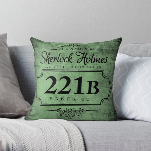 The name's Sherlock Holmes Throw Pillow