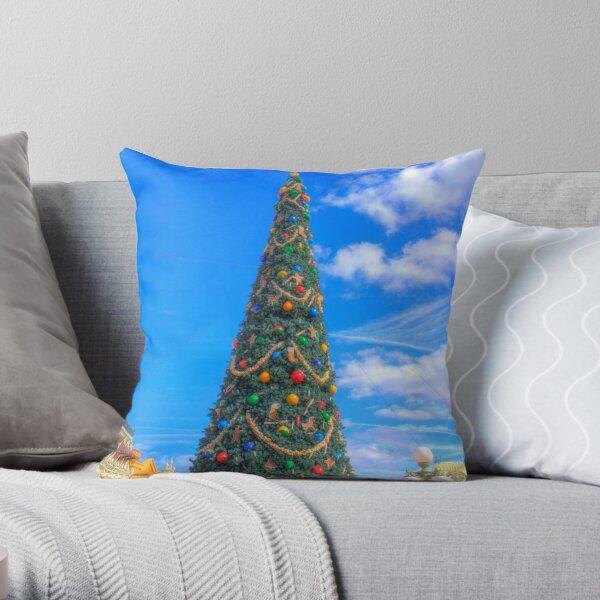 Merry Main Street Throw Pillow