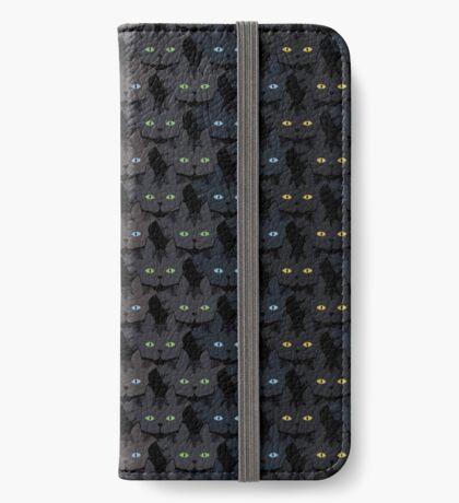 Grey Tabby Cat Vertical Stripe Cattern [Cat Pattern] iPhone Wallet