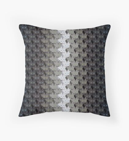 Grey Tabby Cat Vertical Stripe Cattern [Cat Pattern] Throw Pillow