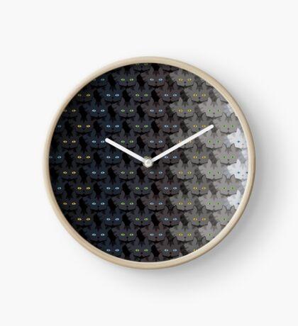 Grey Tabby Cat Vertical Stripe Cattern [Cat Pattern] Clock