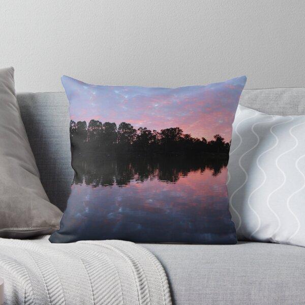 Murray River Sunrise.   Throw Pillow