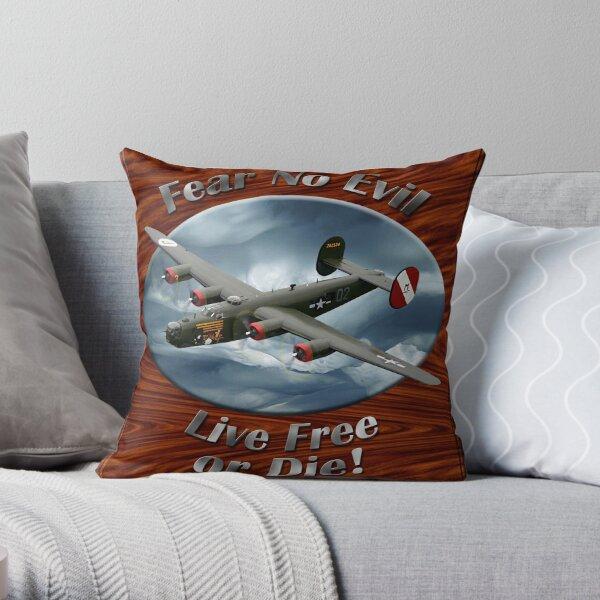 B-24 Liberator Fear No Evil Throw Pillow