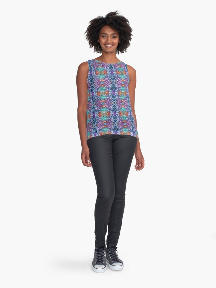Alternate view of Interconnection Sleeveless Top
