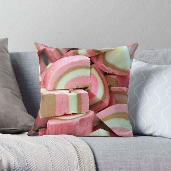 Coloured nougat Throw Pillow