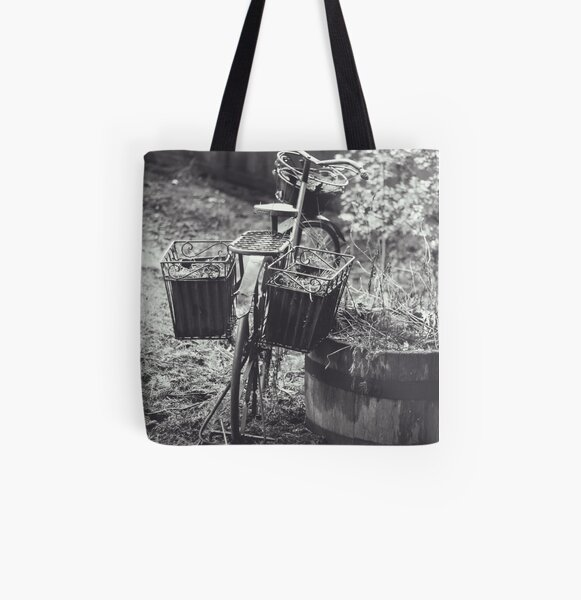 Garden Bike All Over Print Tote Bag
