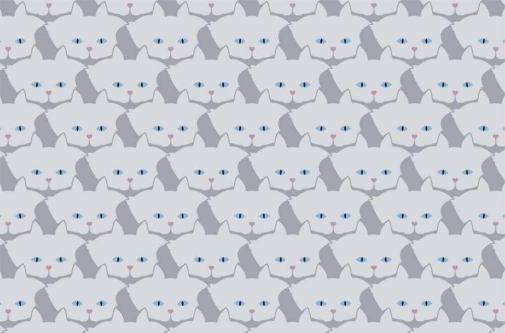 Light Grey #01 Cat Cattern [Cat Pattern] by Brent Pruitt