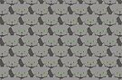 Grey #02 Cat Cattern [Cat Pattern] by Brent Pruitt