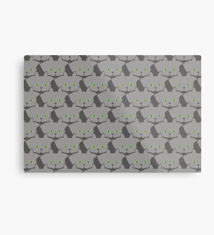 Grey #02 Cat Cattern [Cat Pattern] Metal Print