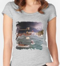 And whilst I was sleeping..... Women's Fitted Scoop T-Shirt