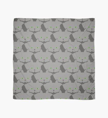 Grey #02 Cat Cattern [Cat Pattern] Scarf