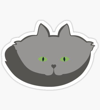 Grey #02 Cat Cattern [Cat Pattern] Sticker