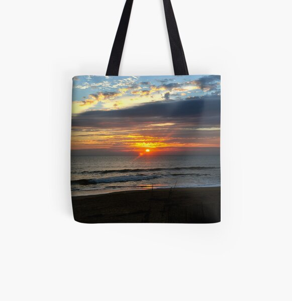 Outer Banks Sunrise All Over Print Tote Bag