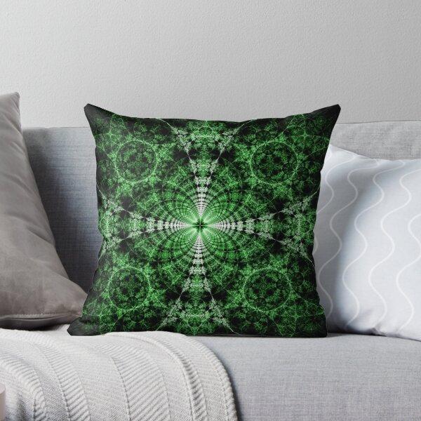 Emerald Plasma Throw Pillow