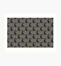 Grey #03 Cat Cattern [Cat Pattern] Art Print