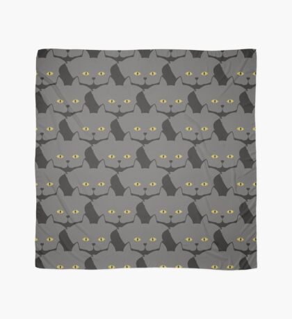 Grey #03 Cat Cattern [Cat Pattern] Scarf