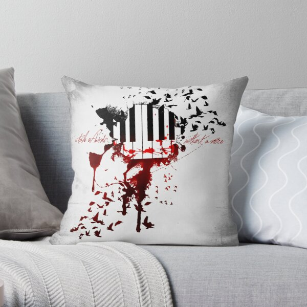 A Tale of Birds without a Voice Throw Pillow