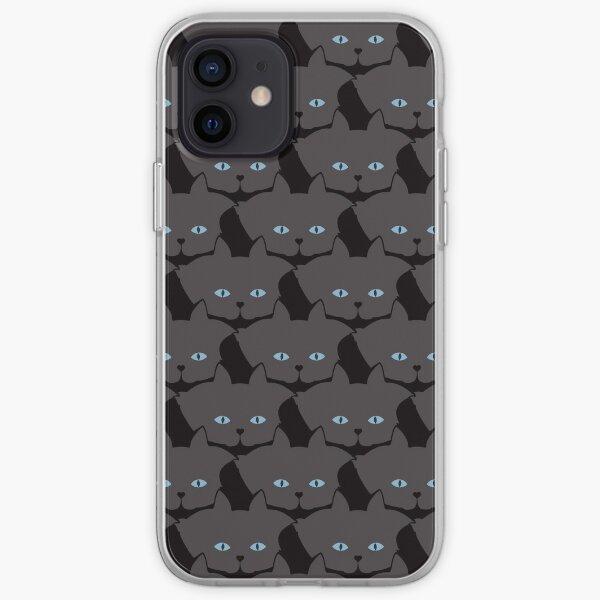 Grey #04 Cat Cattern [Cat Pattern] iPhone Soft Case