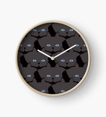 Grey #04 Cat Cattern [Cat Pattern] Clock