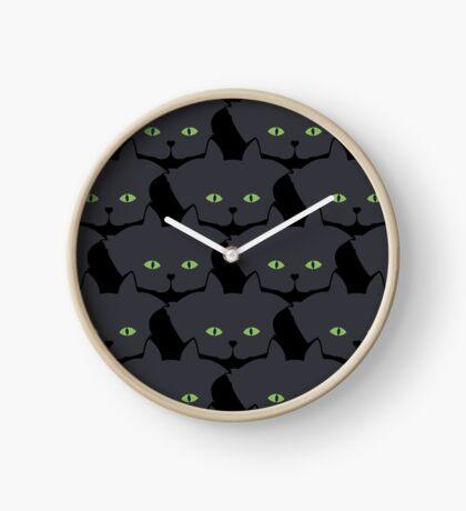 Grey #05 Cat Cattern [Cat Pattern] Clock