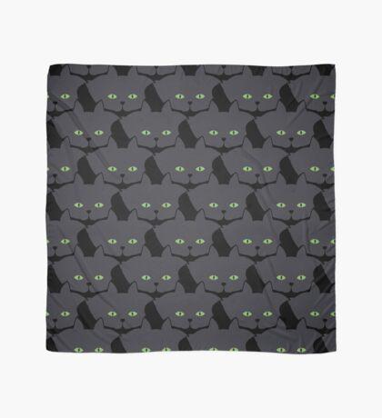 Grey #05 Cat Cattern [Cat Pattern] Scarf