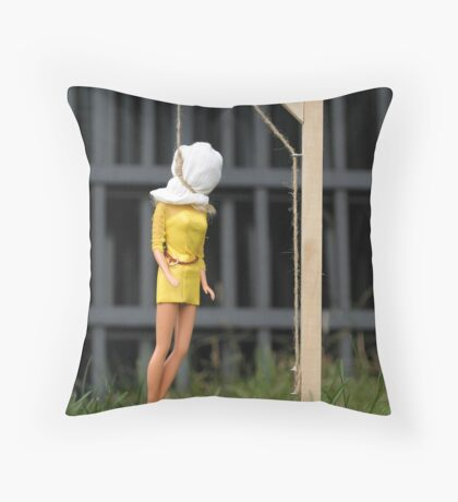 "Bad Bambi Series, #2 ""Just Hanging Around""  Throw Pillow"